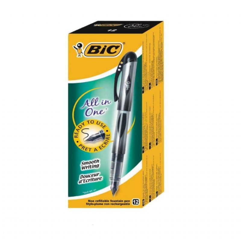 Bic All İn One Kullan At Dolma Kalem Siyah